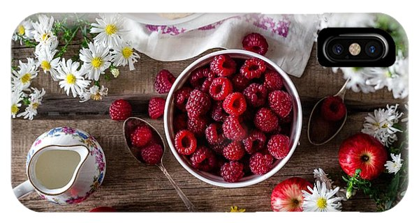 Raspberry Breakfast IPhone Case