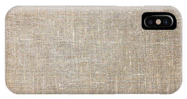 Raw Natural Linen IPhone Case