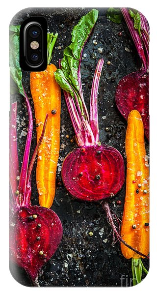 Eating iPhone Case - Raw Vegetables For Roasting, On A by Sarsmis