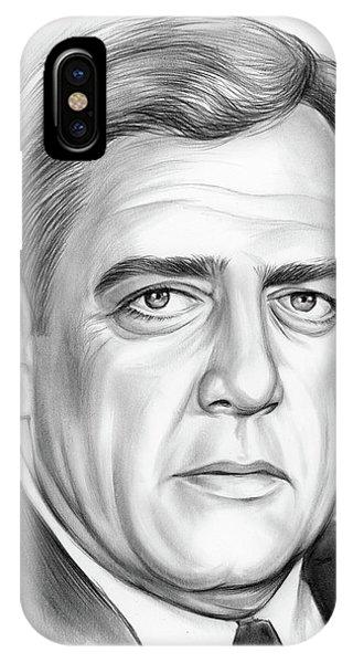 Graphite iPhone Case - Raymond Burr by Greg Joens