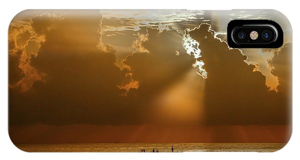IPhone Case featuring the photograph Rays Light The Way by Tom Claud