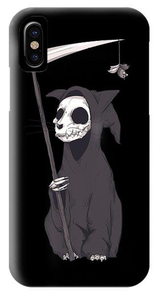 Kitten iPhone Case - Reaper Cat by Ludwig Van Bacon