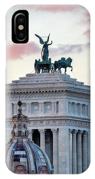 IPhone Case featuring the photograph Rear View Of The Altare Della Patria by Fabrizio Troiani