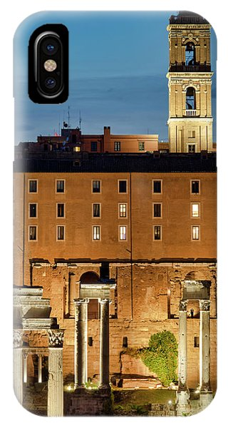 IPhone Case featuring the photograph Rear View Of The Campidoglio by Fabrizio Troiani
