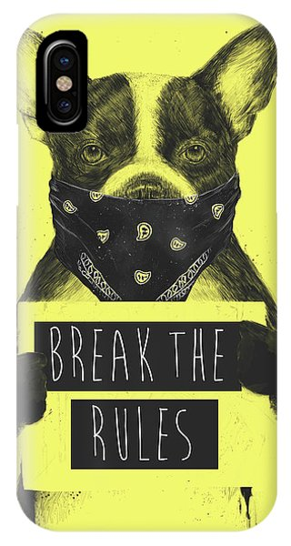 Typography iPhone Case - Rebel Dog II by Balazs Solti
