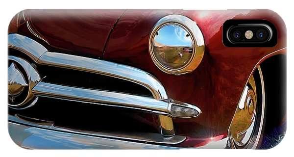 Red 1950 Ford Traditional Custom IPhone Case