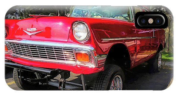 Red 1956 Chevy Gasser IPhone Case
