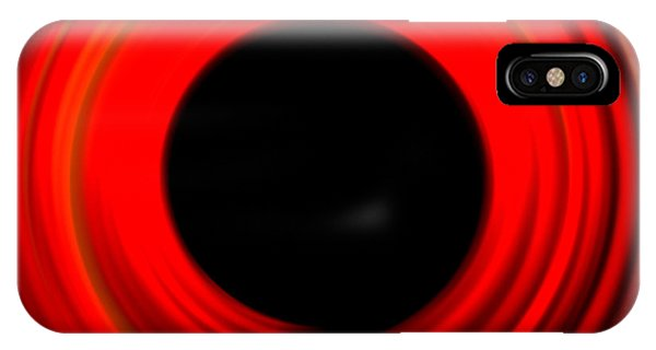 Form iPhone Case - Red Abstract Circle by Ana De Sousa