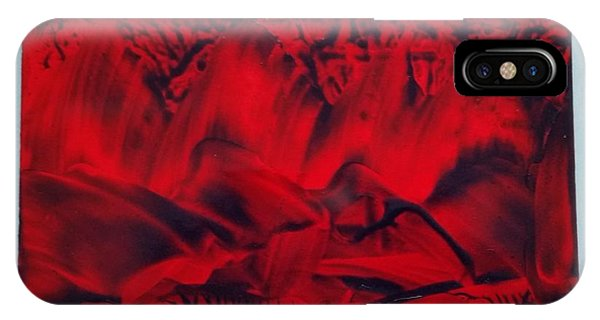 Red And Black Encaustic Abstract IPhone Case