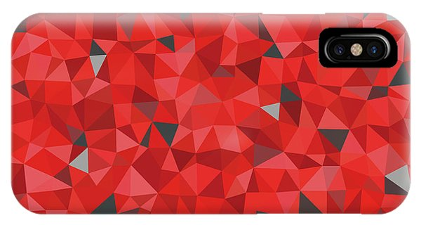 iPhone Case - Red And Gray Triangular Pattern - Triangles Mosaic by Michal Boubin