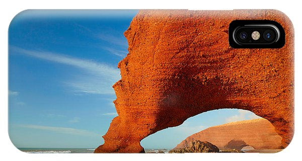 Red Sky iPhone X Case - Red Archs On Atlantic Ocean Coast by Sj Travel Photo And Video