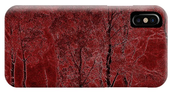 Red Aspen Grove IPhone Case