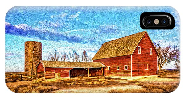 Silo iPhone Case - Red Barn And Brick Silo by Christopher Thomas