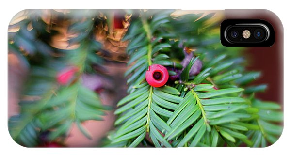 IPhone Case featuring the photograph Red Berry On Green by Scott Lyons
