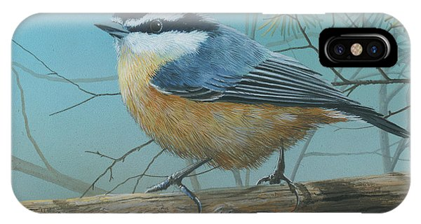 Red Brested Nuthatch IPhone Case