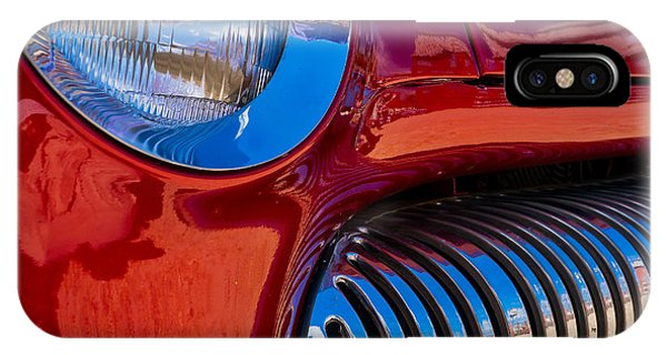 Red Car Chrome Grill IPhone Case