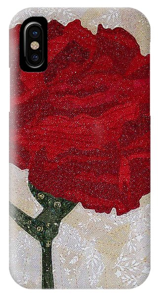 Red Carnation IPhone Case