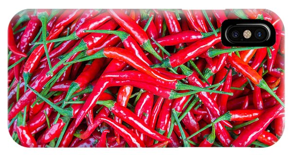 Ripe iPhone Case - Red Chillies For Sale At Market,thailand by Jat306
