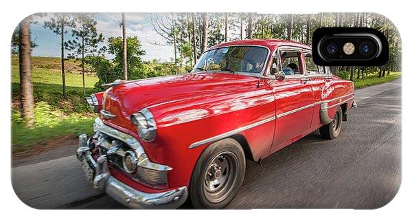 Red Classic Cuban Car IPhone Case