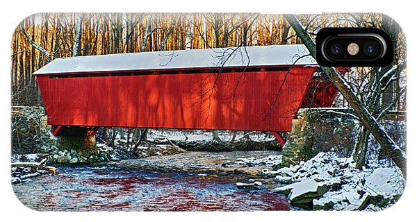 Kingsville iPhone Case - Red Covered Bridge by Brian Wallace