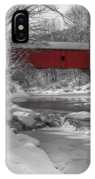 Red Covered Bridge IPhone Case