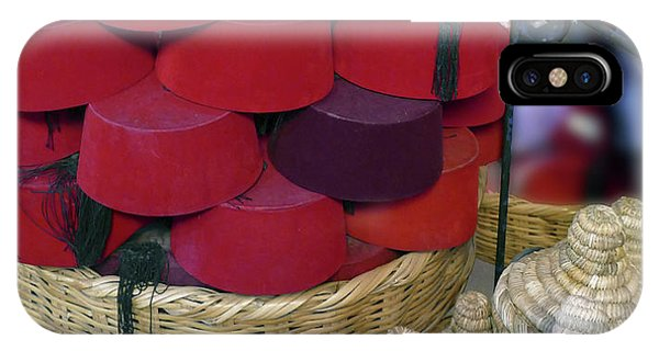 Red Fez Tarbouche And White Wicker Tagine Cookers IPhone Case