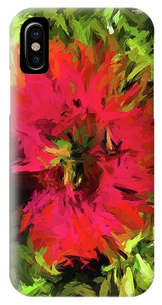 Red Flower Flames IPhone Case