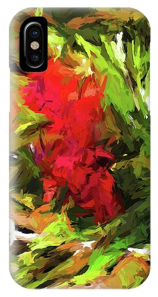 Red Flower On The Branch IPhone Case
