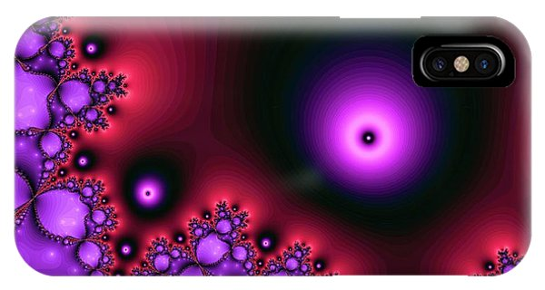 Red Glowing Bliss Abstract IPhone Case