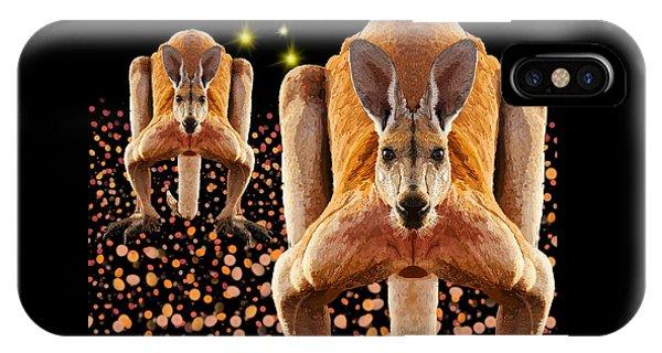 Red Kangaroos IPhone Case