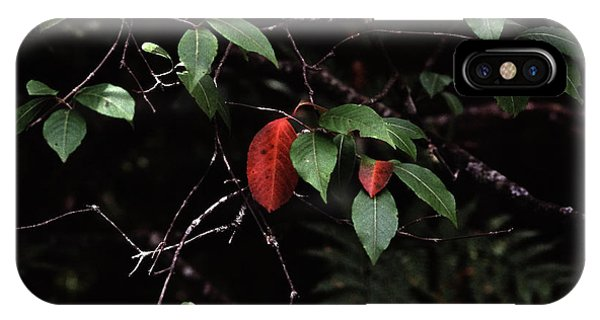 IPhone Case featuring the digital art Red Leaf by Christopher Meade