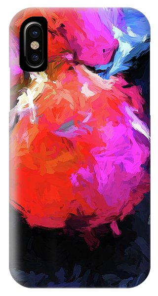 Red Pomegranate In The Blue Light IPhone Case