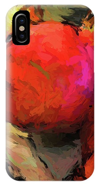 Red Pomegranate In The Yellow Light IPhone Case