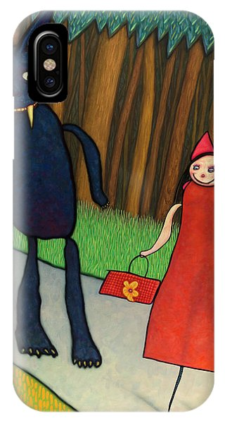 Fairy Tales iPhone Case - Red Ridinghood by James W Johnson