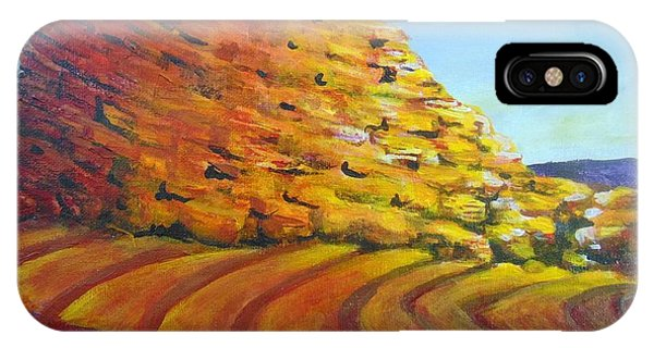 IPhone Case featuring the painting Red Rocks by Saundra Johnson