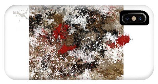 iPhone Case - Red Splashes by Sigrid Van Dort