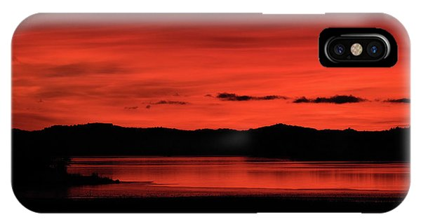 IPhone Case featuring the pyrography Red Sunset by Magnus Haellquist