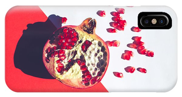 Space iPhone Case - Red Vibrant Pomegranate On Multi by Ale De Sun