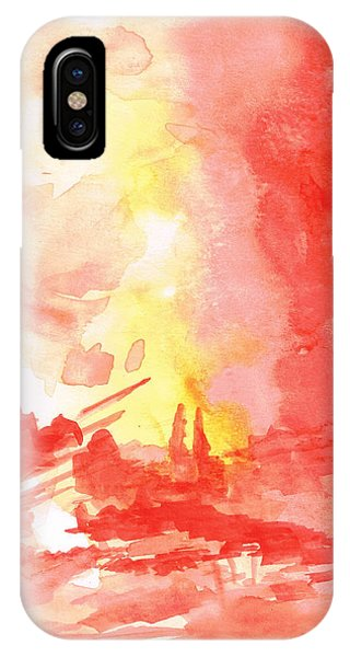 Red Village Abstract 1 IPhone Case