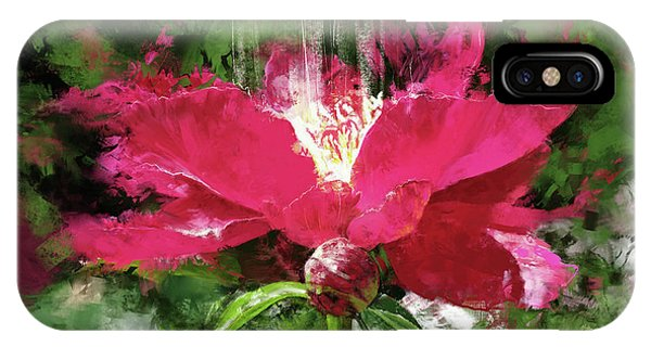 Peony iPhone Case - Red Volcano by Garth Glazier