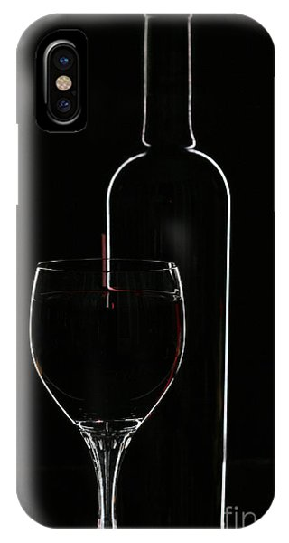 Glasses iPhone Case - Red Wine And Glasse Over Black by Darja Vorontsova