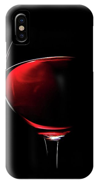 Wine Glass iPhone Case - Red Wine by Johan Swanepoel