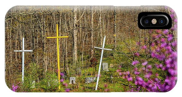 iPhone Case - Redbud And Crosses  by Thomas R Fletcher