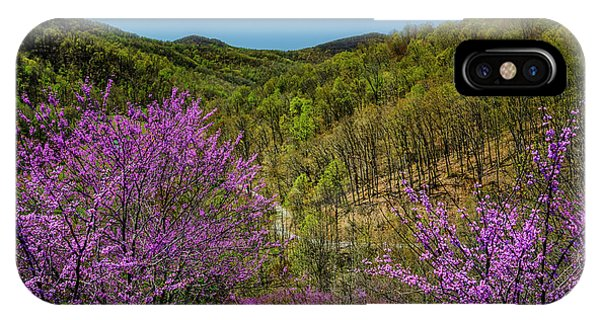 iPhone Case - Redbud On The Mountain by Thomas R Fletcher