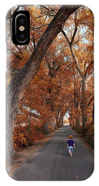 Redhead Fall Walkabout IPhone Case