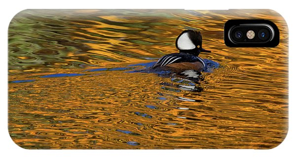 Reflecting With Hooded Merganser IPhone Case