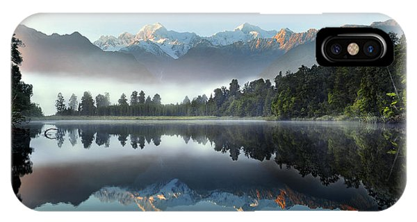 Maya iPhone Case - Reflection Of Lake Matheson by Supachart