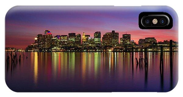 Reflections Of Boston II IPhone Case