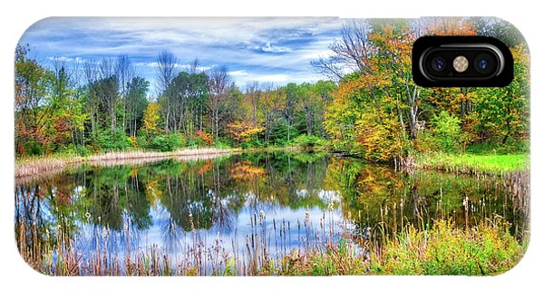 IPhone Case featuring the photograph Reflections Of Fall In The Finger Lakes by Lynn Bauer