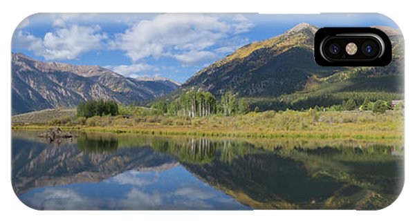 Fourteener iPhone Case - Reflections Of The Sawatch Range In The Autumn by Bridget Calip